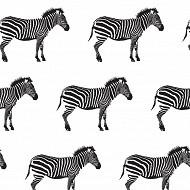 Serviettes x20 zebre black 33x33cm 3 plis