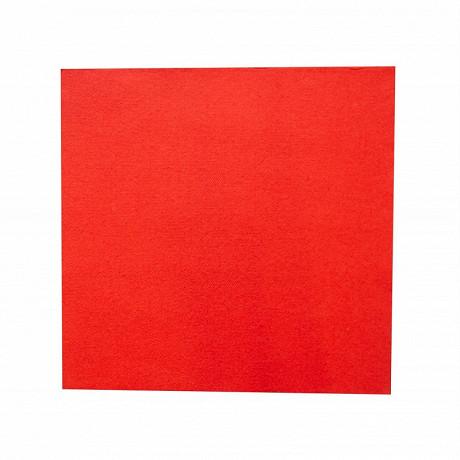 Serviettes x50 lounge rouge 40x40cm