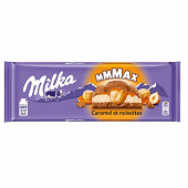 Milka caramel et noisettes entières 300g