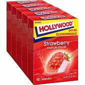 Hollywood fresh fraise sans sucres offre économique 70g