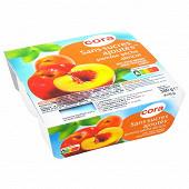 Cora purée de pomme pêche abricot sans sucres ajoutés 4x95g