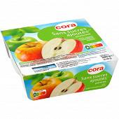 Cora purée de pomme sans sucres ajoutés 4 x 95g
