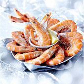 Crevettes roses cuites de 30 à 50 pièces au kg