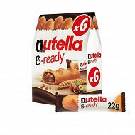 Nutella b-ready t6 etui de 6 pièces 132g