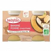 Babybio pot pomme banane sans gluten dès 4 mois  2x130g