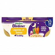 Bledina blediner mijote de petits légumes et quinoa 2x200g