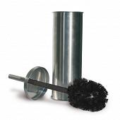 Pot à balai avec brosse wc métal finition mate
