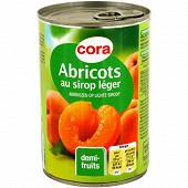Cora abricot au sirop léger 1/2 100% saccharose 420g