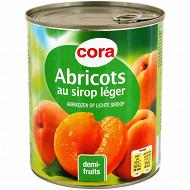 Cora abricot au sirop léger 4/4 100% saccharose 820g