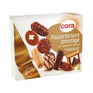 Cora assortiment biscuits prestige au chocolat suisse 200g