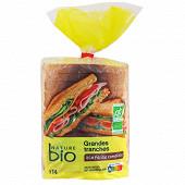 Nature Bio pain de mie bio 14 grandes tranches complet 500g