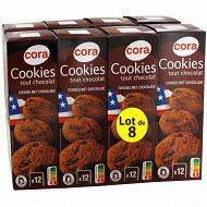 Cora cookies tout chocolat lot de 8 1.6kg