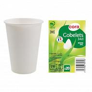 Cora gobelets 34 CL blanc X20