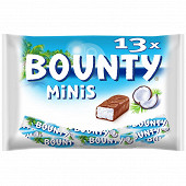 Bounty minis barre chocolat noix de coco x13 403g