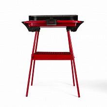 Livoo barbecue électrique sur pieds rouge DOM297R