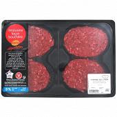 Cora dégustation steak haché 5% façon bouchère Limousin, 4x125g