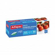 Alfapac sacs congélation à lien x50 moyen modèle végétale origine