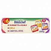 Bledina bledichef blanquette volaille carottes et pâtes dès 18 mois 6x250g