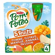 Pom'potes sans sucres ajoutés 5 fruits tropical
