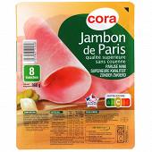 Cora jambon de Paris qualité supérieure sans couenne 8 tranches 360g