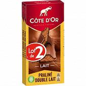 Côte d'or praliné fondant lait 2 x 200g