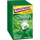 Hollywood 2fresh menthe verte chlorophylle 3 étuis de 10 dragées sans sucres 66g