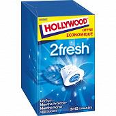 Hollywood 2fresh menthe fraiche menthe forte 3 étuis de 10 dragées sans sucres 66g