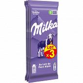 Milka lait 3 x 200g