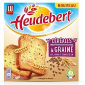 Heudeubert biscotte blé avoine et graines de lin 280g