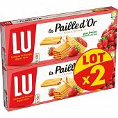 Paille d'or aux fraises et fraises des bois lot x2 340g