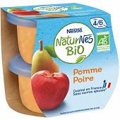 Nestlé Naturnes Bio pomme poire dès 4/6 mois 2x115g