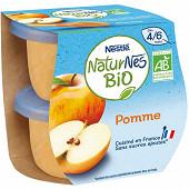 Nestlé Naturnes Bio pomme dès 4/6 mois 2x115g