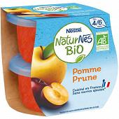 Nestle naturnes bio pomme prune 2x115g des 4/6 mois