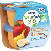 Nestlé Naturnes Bio pomme banane dès 4/6 mois 2x115g