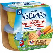 Nestle naturnes les sélections légumes du marché poulet fermier 2x200g