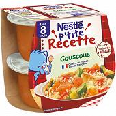 Nestlé P'tite Recette Couscous dès 8 mois 2x200g