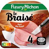 Fleury Michon jambon braisé 4 tranches 160g