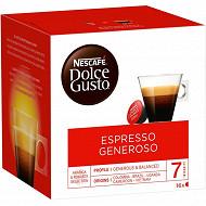 Nescafe dolce gusto espresso generoso x 16 112g