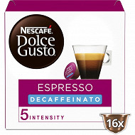 Nescafé Dolce Gusto Espresso decaffeinato, capsule café décaféiné - x16 dosettes