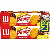 Lu pépito chocolat noir 2x192g