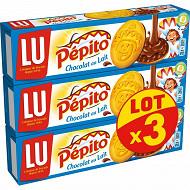 Pepito chocolat au lait lot x3 576g