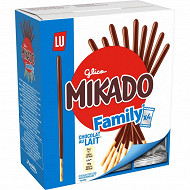 Lu mikado box format familial chocolat au lait 300g