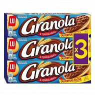 Granola chocolat au lait 3x200g