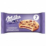 Milka cookies sensations coeur choco fondant 182g