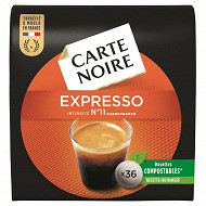 Carte Noire espresso puissant n°11 type senséo x36 250g
