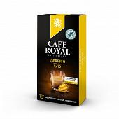 Café Royal capsules aluminium espresso type nespresso x10 52g
