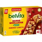 Belvita barres moelleuses fruits rouges 160g