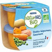 Nestlé Naturnes Bio Petits légumes saumon dès 6 mois 2x190g