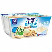 Nestlé P'tit Brassé Bio muesli nature dès 8 mois 4x90g