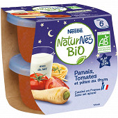 Nestlé naturnes bio panais tomates plat du soir dès 6 mois 2x190g